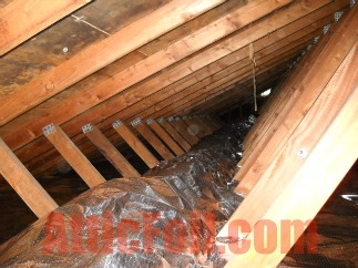 Cold Climate Radiant Barrier Installation - over attic floor