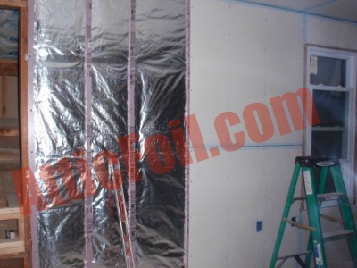Wall Application 3 AtticFoil Radiant Barrier Foil