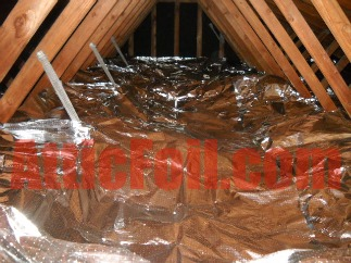 atticfoil radiant barrier over insulation