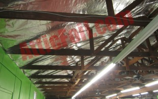 commercial building radiant barrier installation 1