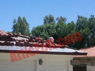 under tile roof radiant barrier foil 2