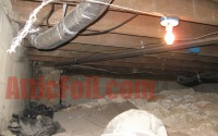 crawlspace before radiant barrier