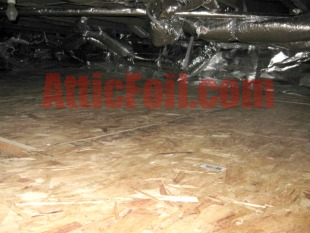 crawlspace radiant barrier foil installation 4