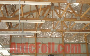 atticfoil install in metal building 002