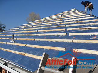 roof battens over radiant barreir foil