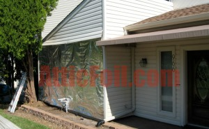 radiant barrier behind siding