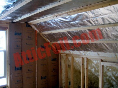 You Will Add The Foil Over The Insulation In The Walls, Then Create An Air  Gap And Finish With The Sheetrock.