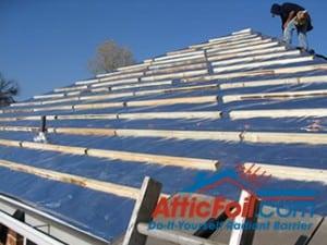 Under Metal Amp Tile Roofs Atticfoil 174 Radiant Barrier Do