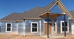 Single sided house wrap foil