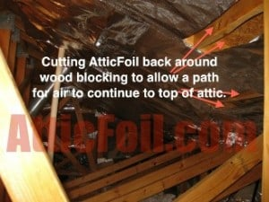 Sometimes the foil and the attic framing supports donu0027t line up perfectly. You can either cut a strip and staple below the support. & Staple Up Install - AtticFoil™ Radiant Barrier - Do-It-Yourself ...