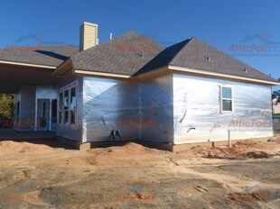 AtticFoil™ replaces Tyvek® as a house wrap behind brick u0026 stone & House Wrap - Behind Brick/Stone - AtticFoil™ Radiant Barrier - Do-It ...