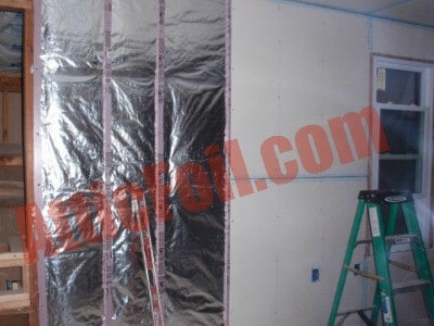 Inside Exterior Walls Cold Climates Atticfoil Radiant Barrier Do It Yourself Professional