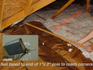 Over The Insulation Install Atticfoil Radiant Barrier Do It Yourself Professional Grade Radiant Barrier