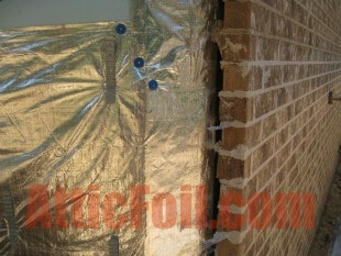 House Wrap - Behind Brick/Stone - AtticFoil™ Radiant Barrier