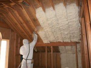 spay foam attic